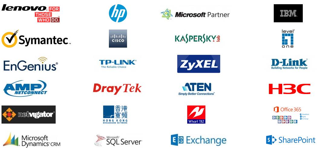 Microsoft, Cisco, IBM, HP, Lenovo, etc.